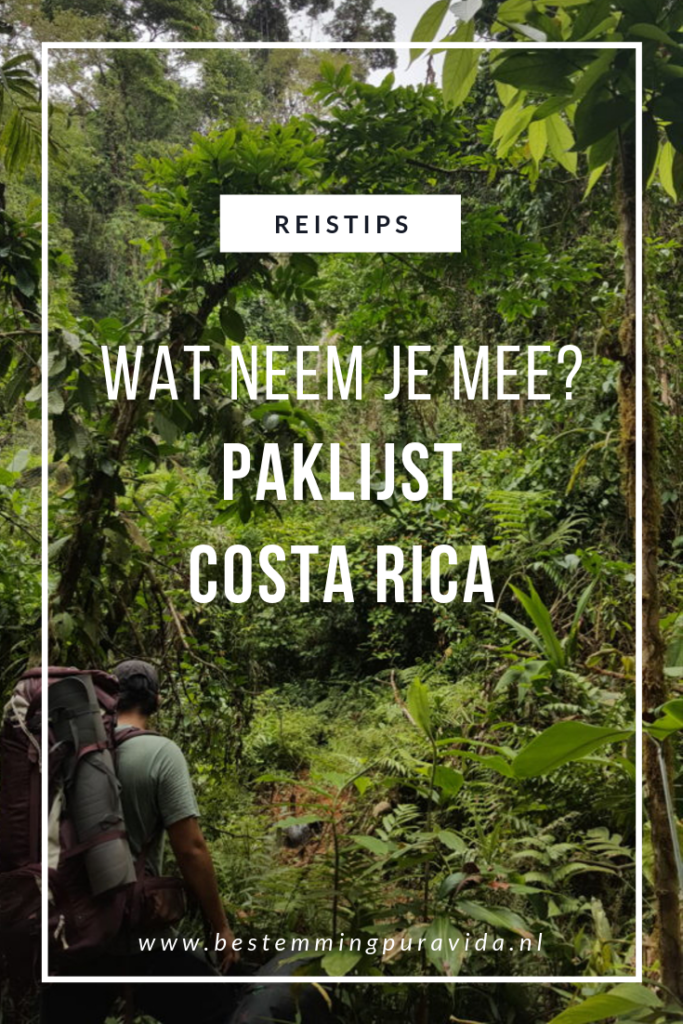 Paklijst Costa Rica